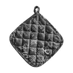 Прихватка квадратная 20*20 (рогожка арт. 30098-3 Версаль ,черный)