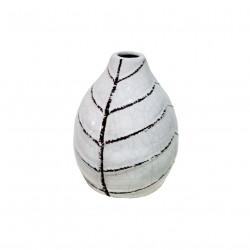 Ваза керамическая Геранд 13см 17W007-2/белая