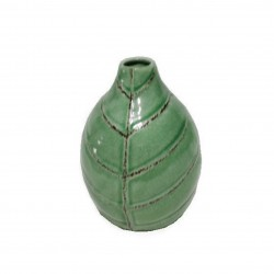Ваза керамическая Геранд 17см 17W007-1/зеленая