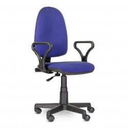 Кресло UTFC Престиж Самба С-15 (черно-синий мелкая клетка)