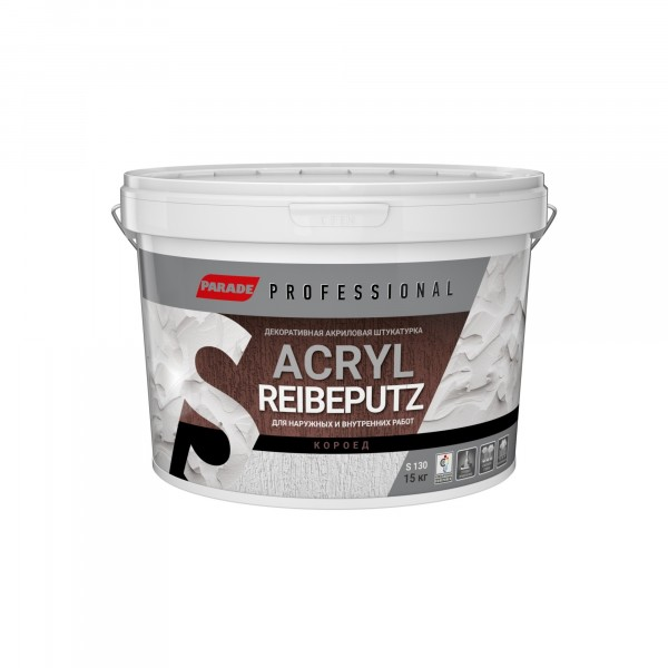 Фото - декор штукатурка короед parade professional acryl reibeputz s130 r2,0 15кг штукатурка декор aura putz decor 25 кг короед 3 0 мм арт 12598