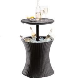 Столик-Бар с отсеком для хранения RATTAN 30л виски коричневый