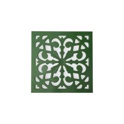 Решетка к дождеприемнику декоративная Ecoteck, цвет зеленый, 27 х 27 см