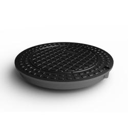 Люк канализационный Ecoteck, цвет черный, 38 см