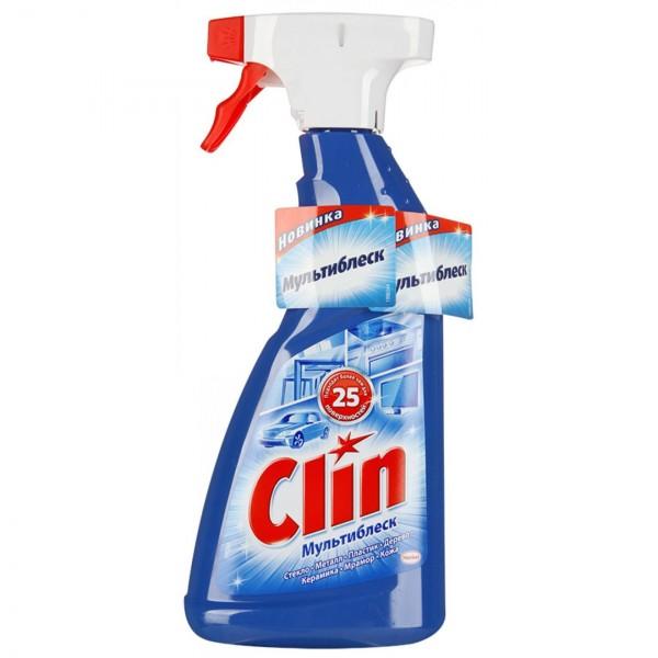 средство для мытья стекол clin мультиблеск 500мл хенкель 3456