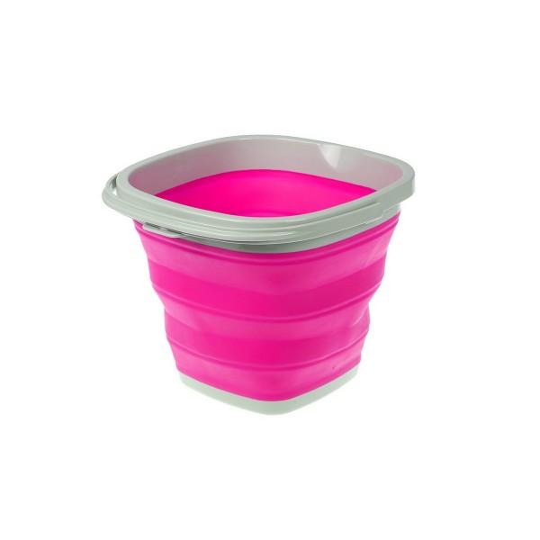 Ведро складное 10л Bradex силиконовое розовое TD0556
