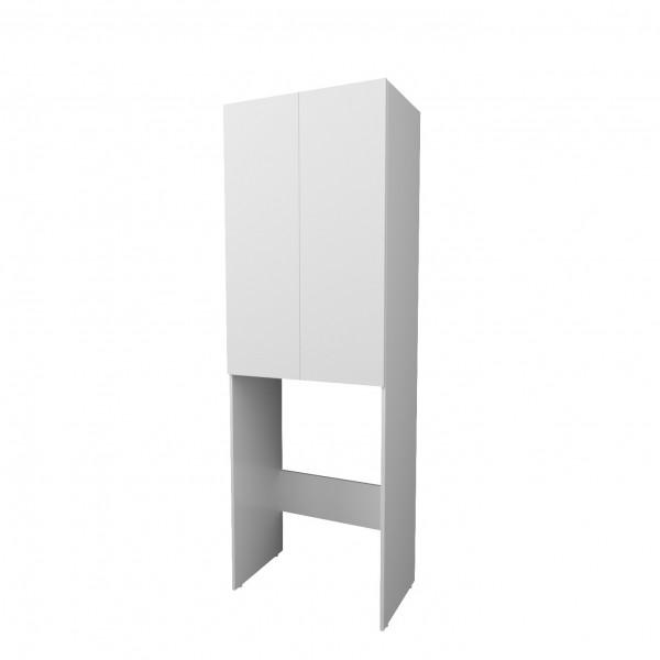 шкаф для ванной комнаты 1marka wall 67см, белый глянец