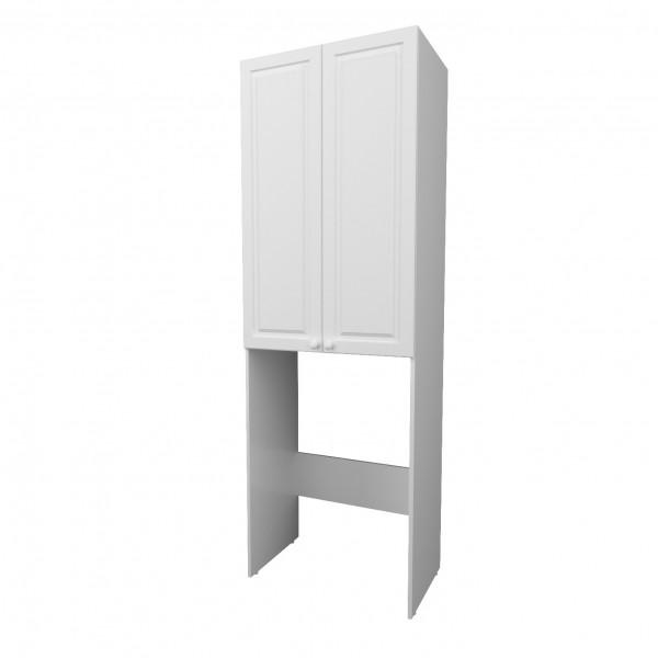 шкаф для ванной комнаты 1marka wall classic 67см, белый глянец
