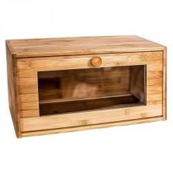 Хлебница с прозрачной дверцей 38,5*22*19см Bravo бамбук BR-182