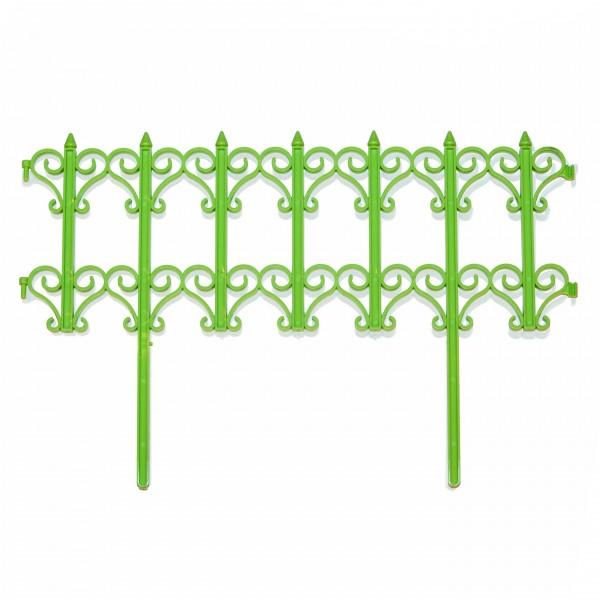 забор декоративный классика набор 5 секций салатовый