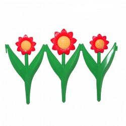 Забор декоративный Ромашка набор 5 секций желто- красный