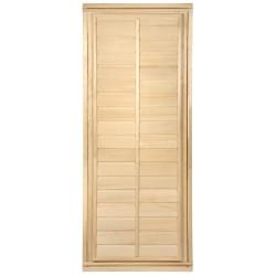 Дверь глухая с фольгой 1,7х0,7 м., липа Класс Б, коробка из липы Банные штучки