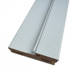 Коробочный брус плоский,ПВХ 2100х75х26мм,Белый бланко