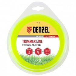 Леска для триммера 2,0 (63м) круглая FLEX CORD, Denzel 96118