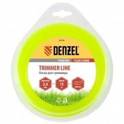 Леска для триммера 2.4 (15м) круглая FLEX CORD, Denzel 96108