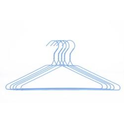 Набор вешалок д/одежды 5шт 41см Аквадекор св.-голубой сталь/ПВХ AHG-1921-5