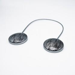 Магнитные клипсы d45 с тросом 30 см серебро