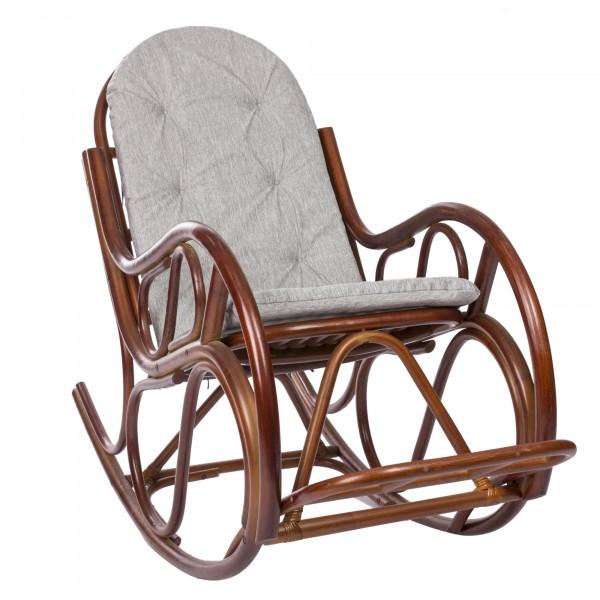 кресло-качалка rattang design classic с подушкой коньяк