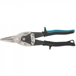 Ножницы по металлу прямой рез 250мм, мах0.7мм,с двухкомпонентной рукояткой, Gross 78325