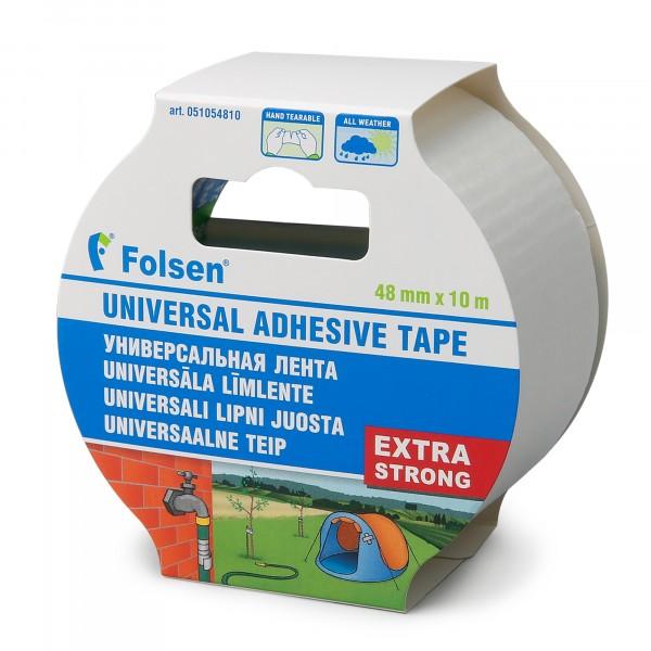 лента тканевая влагоустойчивая folsen 48мм*10м белая армированная лента универсальная зубр профессионал 12096 50 10 влагостойкая 48мм х 10м черная
