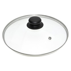Крышка стеклянная 26см Мультидом/multidom металлический ободок ФЭ9-10