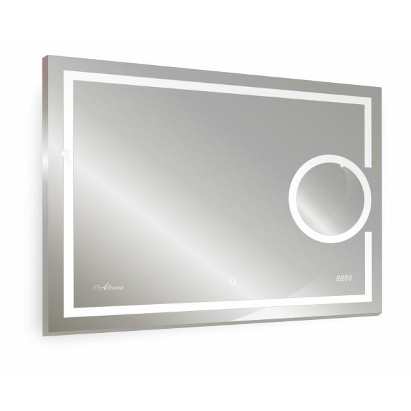 зеркало для ванной adra 800х600 с часами