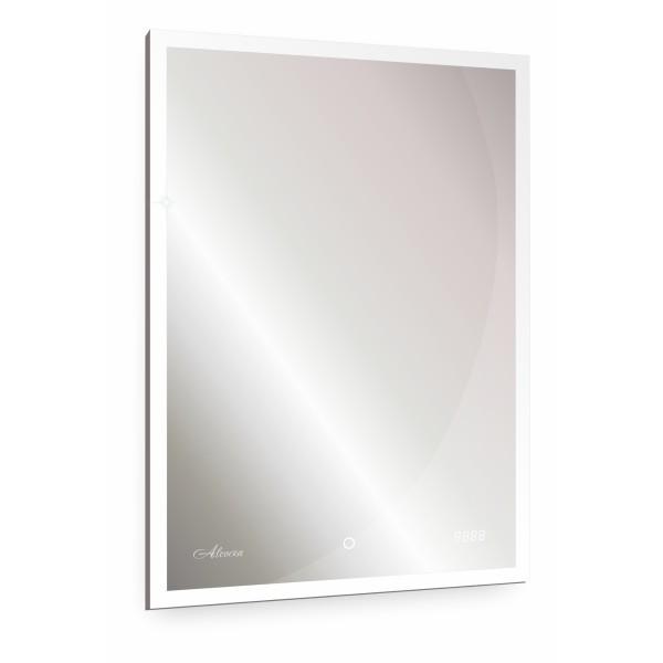 зеркало для ванной barcelona 500х700 с часами