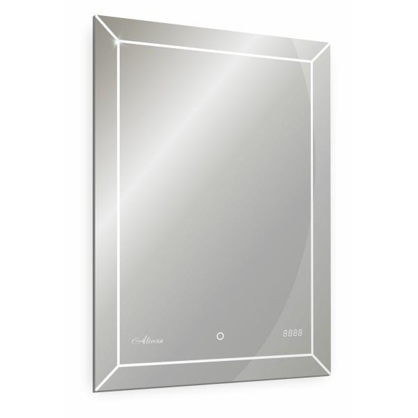 зеркало для ванной brisa 500х700 с часами