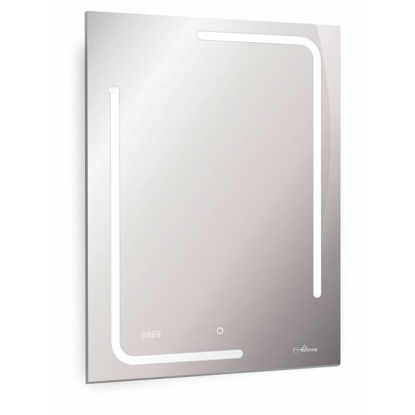 зеркало для ванной malaga 600х800 с часами