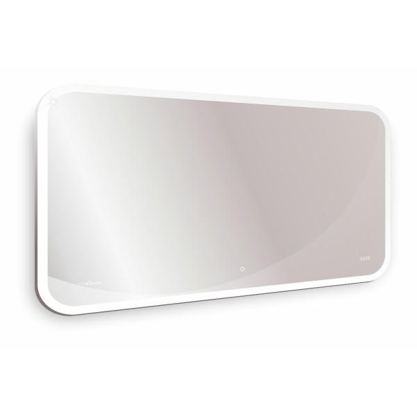 зеркало для ванной viana 1200х700 с часами