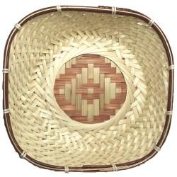 Сухарница плетеная 24*24*7см бамбук 06-129