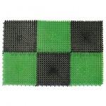 Коврик придверный Травка 42*56см черно-зеленый 23004