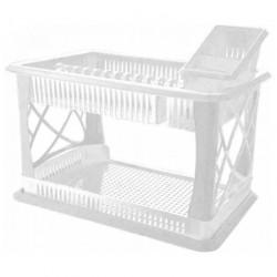 Сушилка для посуды с поддоном ЛИЛИЯ 2-х ярусная + сушилка для столовых приборов ПЦ1558