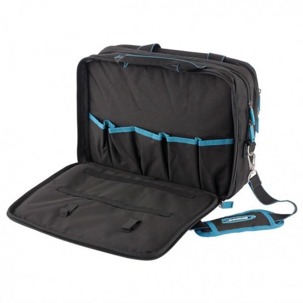 сумка для инструмента meister 31, отсек для ноутбука, наплечный ремень 400х170х300мм gross 90271
