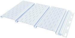 Сайдинг-софит Fine Ber с перфорацией 3-х досок, белый 3,0м