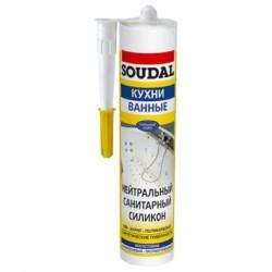 Герметик Soudal санитарный 300мл бесцветный
