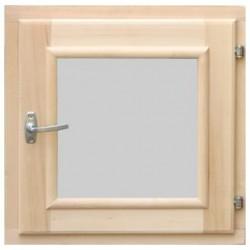 Окно в парную DoorWood 400*400 со стеклопакетом, ручкой, затвором и петлями