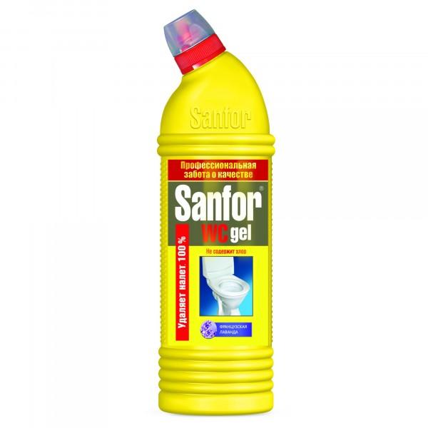 средство чистящее 750мл sanfor cтупино ws-гель французская лаванда 3034 средство чистящее sanfor универсал дезинфекция 750мл