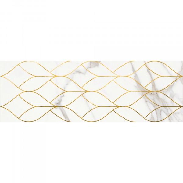декор миланезе дизайн каррара 60х20 белый 1664-0156