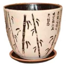 Горшок керамический БУТОН бамбук 18см