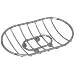 Мыльница решетка, овальная, на ножках, хром CHR-481