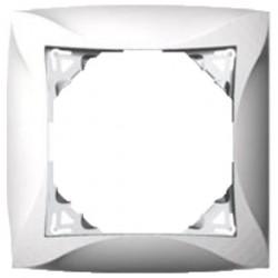 Рамка 1-ая Lexel Дуэт серебро SE WDE000301