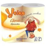 Бумага туалетная Linia Veiro Classic 2-х сл. 4шт желтая