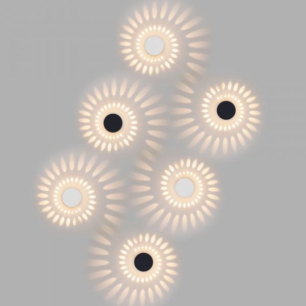 светильник настенный techno led со светодиодами arkada белый 1585 бра elektrostandard 1585 techno led arkada черный
