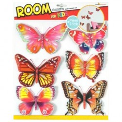 Стикер 3118 Бабочки с блестками