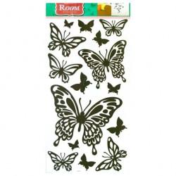 Стикер 3190 Бабочки черные