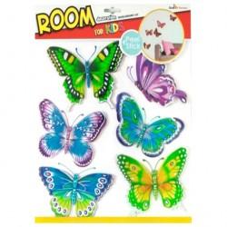 Стикер 3119 Бабочки с блестками