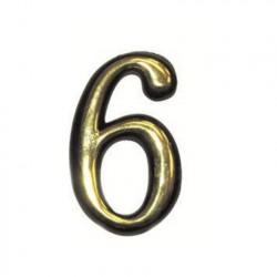 """Цифра """"6"""" и """"9"""" самоклеящаяся, цвет золото"""