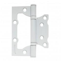 Петля дверная накладная TRODOS 100х75х2мм, без врезки б/к цвет белый