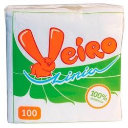 Салфетки бумажные Linia Veiro 1сл. белые 100л